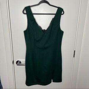 Emerald Green bodycon mini dress